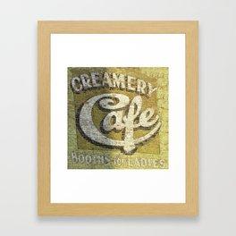 Butte Montana - Creamery Cafe For Ladies Framed Art Print