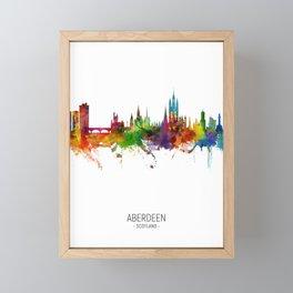 Aberdeen Scotland Skyline Framed Mini Art Print