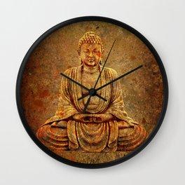 Sand Stone Sitting Buddha Wall Clock