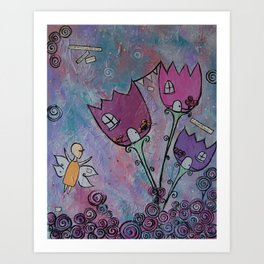 At home with the Fairies Art Print