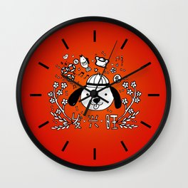 2018 Chinese New Year Doodles Wall Clock