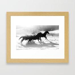 snow and shadows Framed Art Print