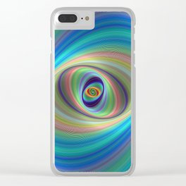 Hypnotic eye Clear iPhone Case
