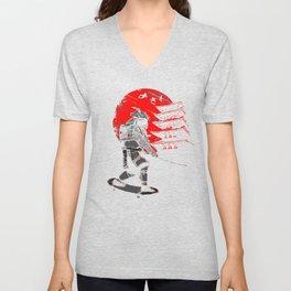 Skater Samurai Unisex V-Neck