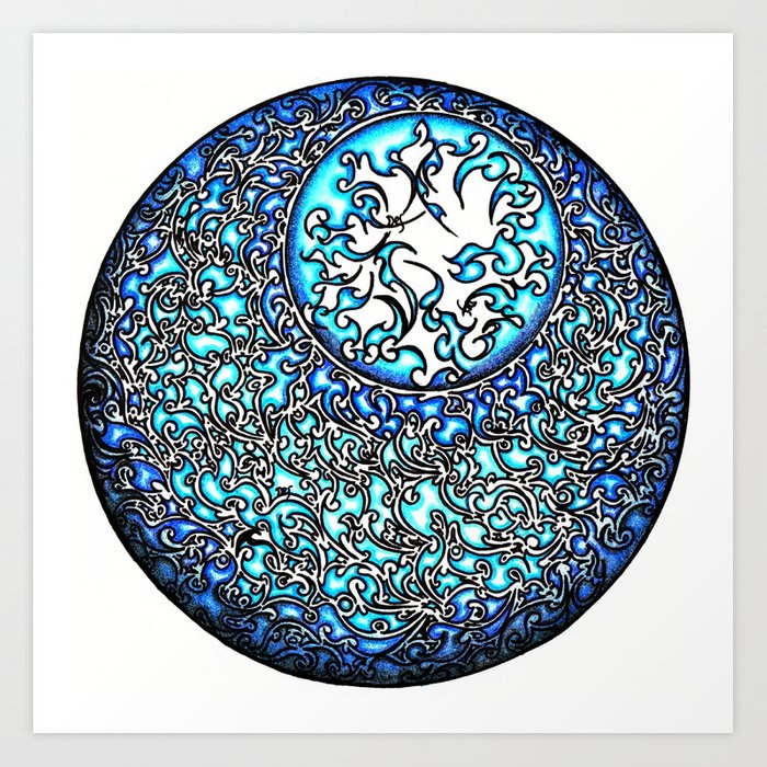 Blue Fire (2) Art Print