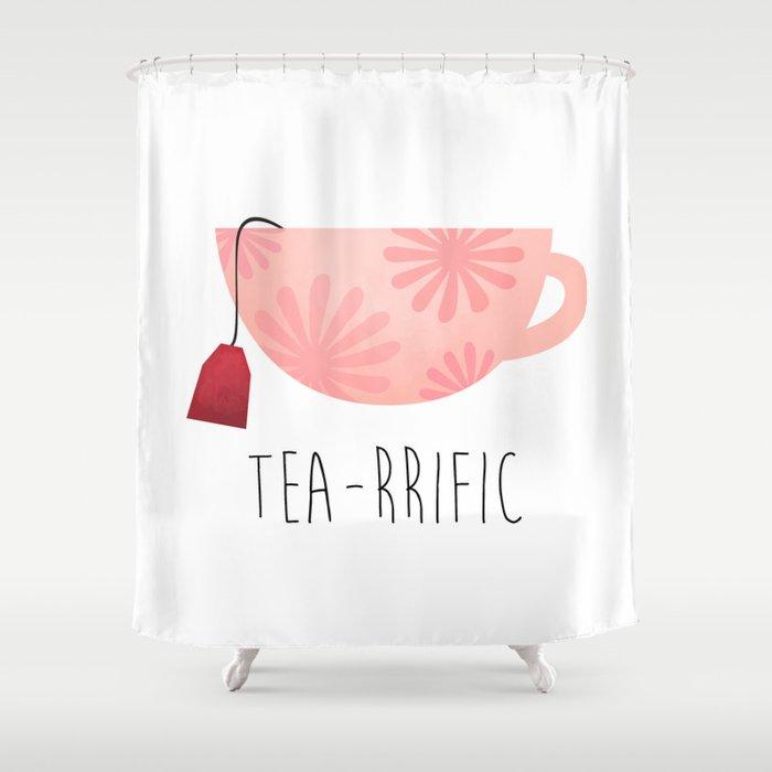Tea-rrific Shower Curtain