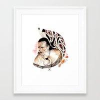 maori Framed Art Prints featuring Toa Maori by iata