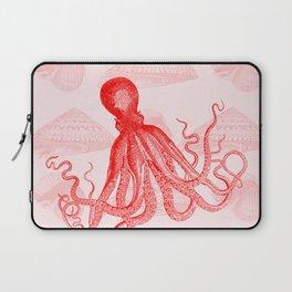 Octopus SeaShells Salmon Color Design Laptop Sleeve