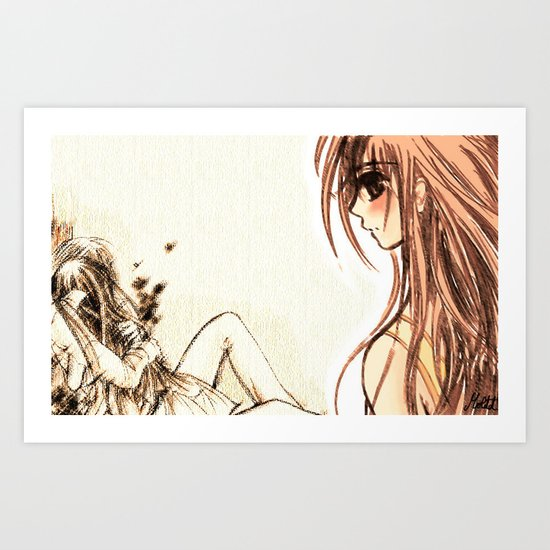 Vampire knight kiss Art Print