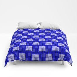 Sharp Interlock - true blue Comforters
