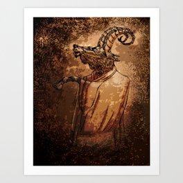 GOAT THRONE Art Print