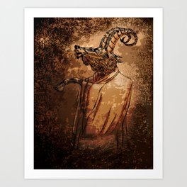 GOAT THRONE Art Print