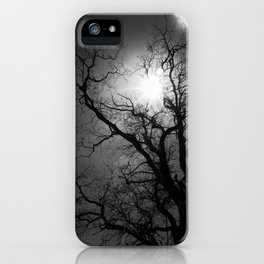 High Contrast Black and White Tree iPhone Case
