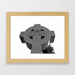 Celtic Cross and Claddagh Framed Art Print