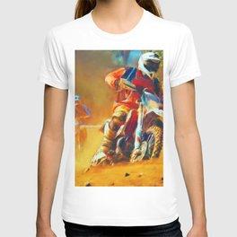 Motor Bike Sport Race Painting T-shirt