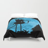 finn and jake Duvet Covers featuring A.T. - With Finn and Jake by Duke Dastardly