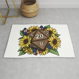 Sunflower D20 Tabletop RPG Gaming Dice Rug