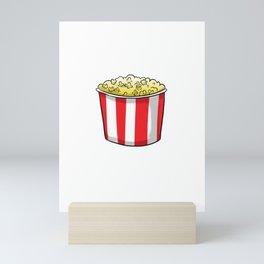 Popcorn Is Cheaper Than Therapy Mini Art Print