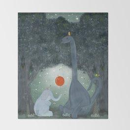 the last dinosaur Throw Blanket