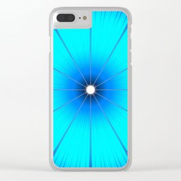TURQUOISE Flower Clear iPhone Case