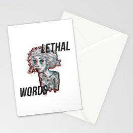 our words are lethal Stationery Cards