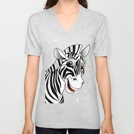 Zebra trendy design artwork animal exotic pattern Unisex V-Neck