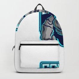 Golem Esport Mascot Logo Design Backpack