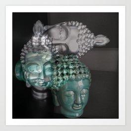 Scattered Buddhas Art Print