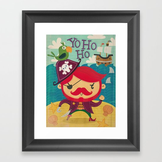 The pirate Yo ho ho Framed Art Print