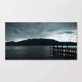 dock in varenna Canvas Print