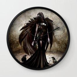 Raven angel Wall Clock