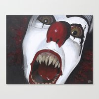 pennywise Canvas Prints featuring Pennywise by Kristen Champion