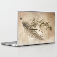 bohemian Laptop & iPad Skins featuring Bohemian Feather by LouJah