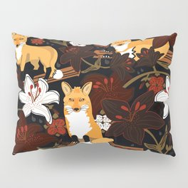 Foxes and Lilies Pillow Sham