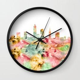 Cleveland Skyline Ohio Wall Clock
