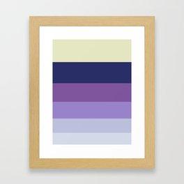 Purple Geometric Stripe Pattern Framed Art Print