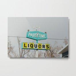 Teal Liquor - Casper, WY Metal Print