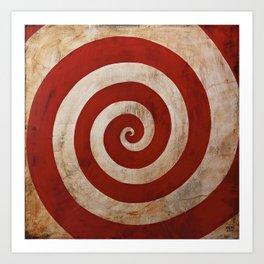 Sideshow Carnival Spiral Art Print