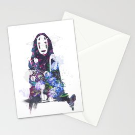 No Face in the Garden Stationery Cards