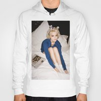 sky ferreira Hoodies featuring Love In Stereo ~ Sky Ferreira by Michelle Rosario