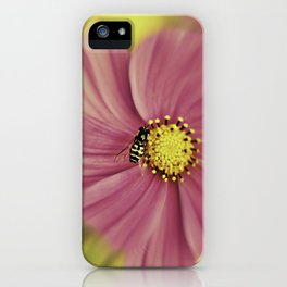 Hoverfly in the Pink iPhone Case