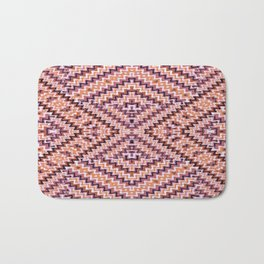 Weave Pattern - Browns and Mauve Bath Mat