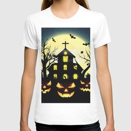 Halloween spooky house T-shirt