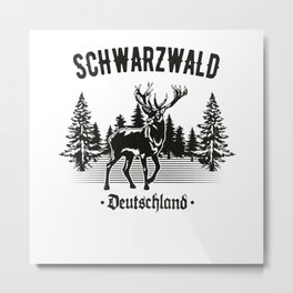 Schwabe Schwarzwald Deutschland Hirsch Wald Metal Print