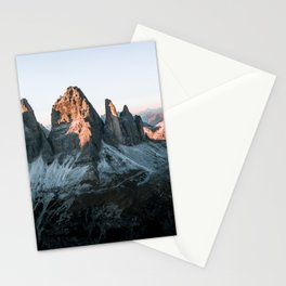 Dolomites sunset panorama - Landscape Photography Stationery Cards