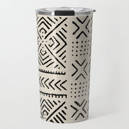 Line Mud Cloth // Bone Travel Mug