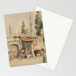 Abdul Qadir al-Rassam - Street Scene, Baghdad (1901) Stationery Cards