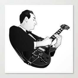 LES PAUL House of Sound - BLACK GUITAR Canvas Print