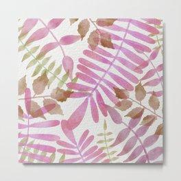 Simple pink jungle scene  Metal Print