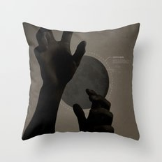 Hand's on the Moon Throw Pillow
